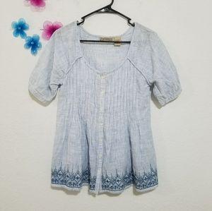 Art and Soul stripped Cotton shirt blouse  Sz S